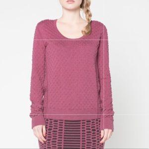 EK Reversible Textured Sweater